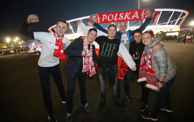 Przed meczem Polska - Włochy na Stadionie Śląskim w Chorzowie