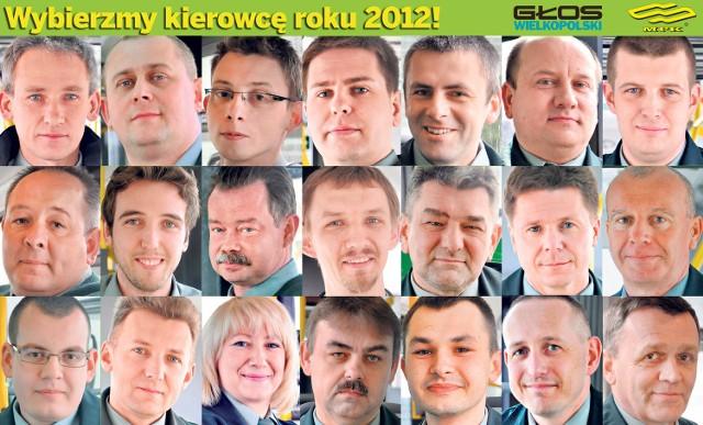 Kandydaci do tytułu kierowcy roku MPK