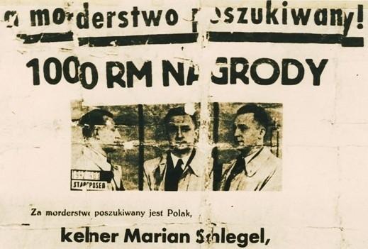 Fragment listu gończego za Marianem Schlegelem rozesłanego nazajutrz po jego ucieczce