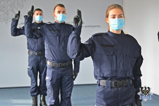 Nowi policjanci w Wałbrzychu właśnie rozpoczęli służbę