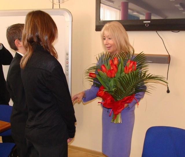 Sędzia Anna Maria Wesołowska odwiedziła ZSO nr 6 w Chełmie