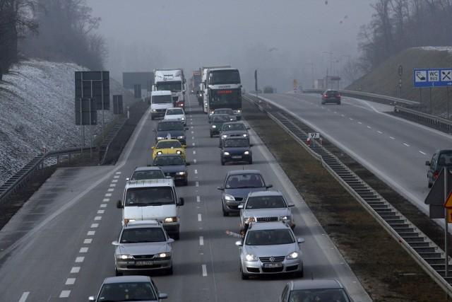 Tak wyglądała blokada autostrady A4 na odcinku Legnica - Wrocław w styczniu tego roku
