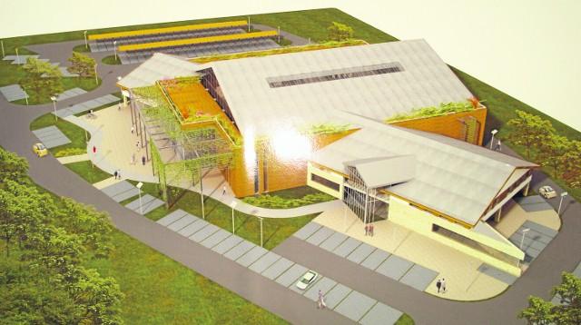 Tak ma wyglądać profesjonalna hala sportowa w Łącku, na której trybunach zmieści się 1/4 mieszkańców miejscowości
