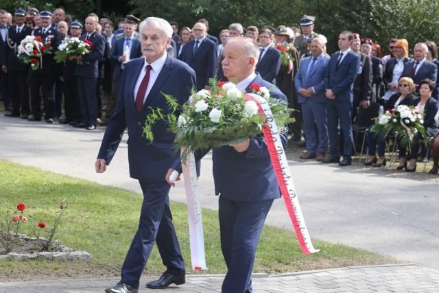 Uroczystości z okazji rocznicy wojny obronnej we wrześniu 1939 r. w Borownicy w gminie Bircza.
