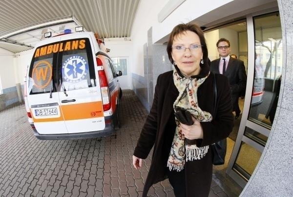 Ewa Kopacz odwiedziła w niedzielę szpital MSWiA