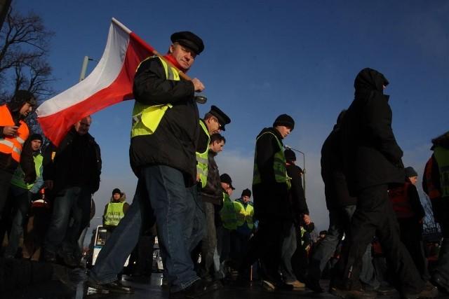 5 stycznia br. rybacy blokowali Trakt św. Wojciecha przy Urzędzie Marszałkowskim w Gdańsku