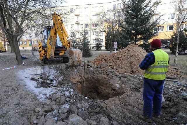 Do awarii wodociągu doszło m.in. na osiedlu Pod Lipami