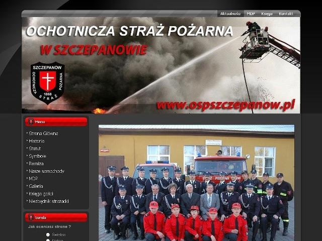 Nowa strona internetowa strażaków działa dopiero od kilku dni