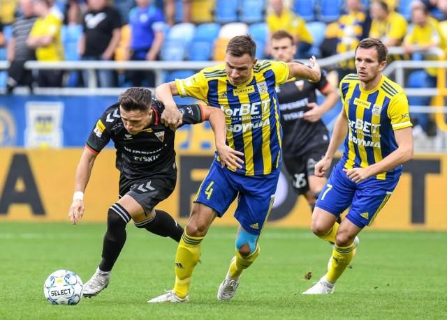 Martin Dobrotka i jego koledzy z Arki Gdynia nie zaliczą dzisiejszego meczu do udanych.