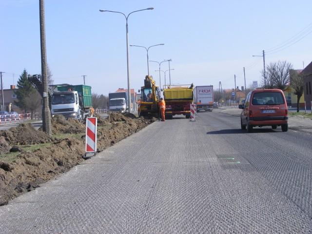 W  Gnieźnie GDDKiA już zaczęła remont ulicy wylotowej w kierunku Poznania