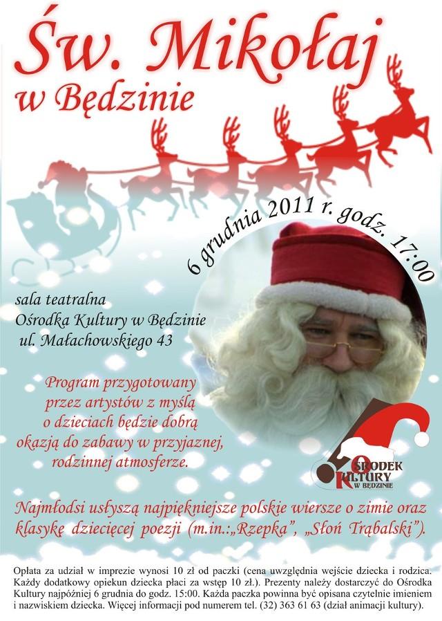 I Będzińskie Mikołajki Oraz święty Mikołaj W Ośrodku Kultury