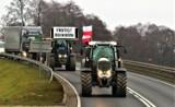 Sławno. Rolnicy wyjechali traktorami oflagowanymi. To był protest ZDJĘCIA
