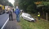 Wypadek na DK 91 w okolicach Radomska. Czołowe zderzenie na wysokości Borowiecka