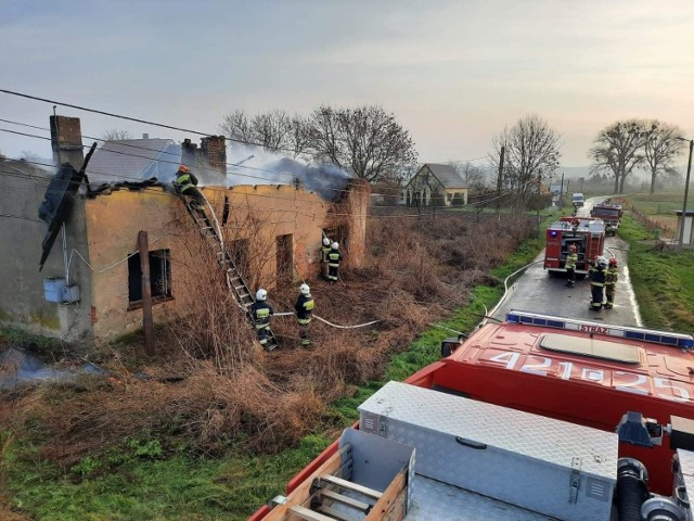 Strażacy gasili pożar w Bieńkówce