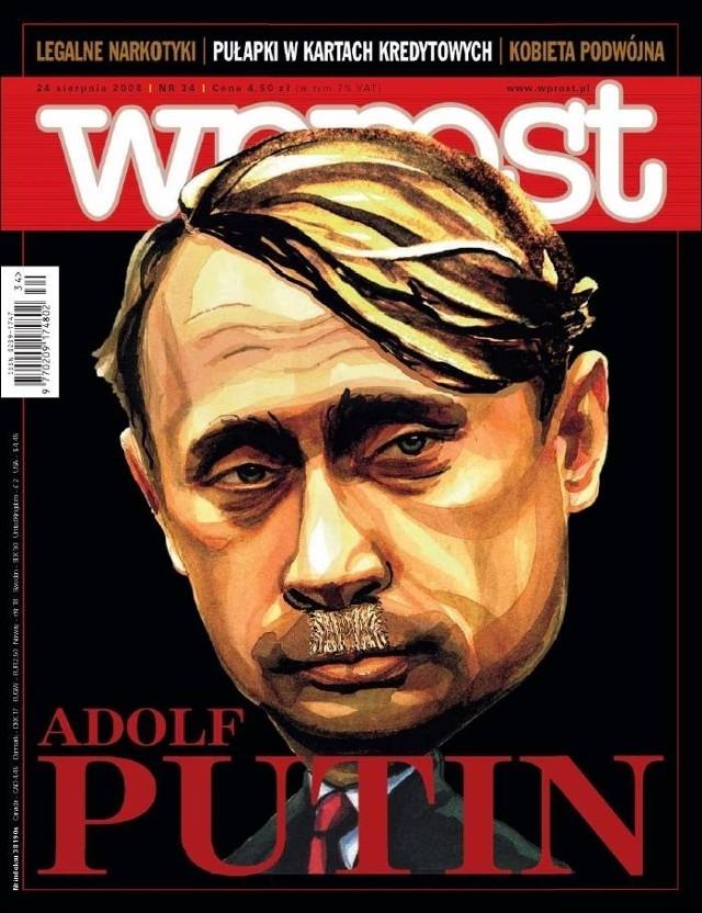 Adolf Putin na okładce Wprostu z 2008 roku