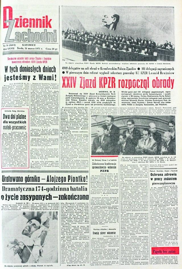 Dziennik Zachodni informował o uratowaniu Alojzego Piontka