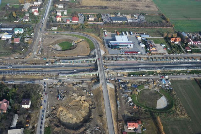 Budowa S17 z Lublina do Piask na finiszu. N/z skrzyżowanie drogi S17 z al. Lotników Polskich