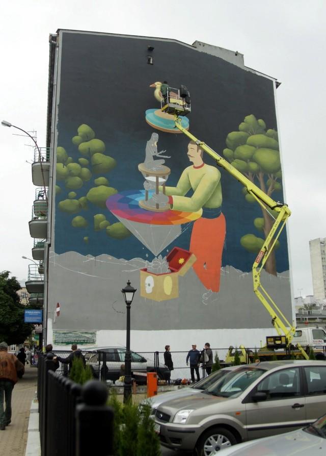 Ul. Jasna: Powstaje mural polsko-ukraiński