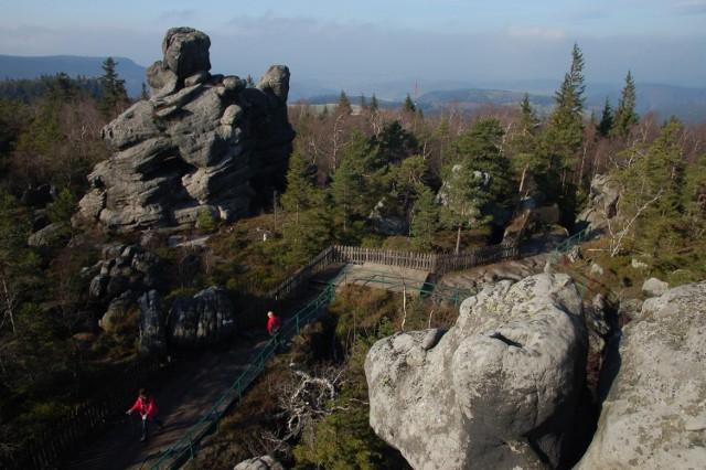 Zółto-czerwony a następnie zielony szlak prowadzący z Karłowa przez schronisko na Szczelińcu Wielkim i później przez szczyt z powrotem do Karłowa. Czas przejścia to ok. 2 godziny, dystans to 5 km.