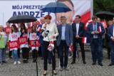 WSCHOWA. W sobotnie przedpołudnie odbył się przedwyborczy wiec Andrzeja Dudy [ZDJĘCIA]