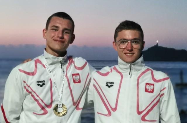 Kamil Pietras i Radek Grabowski z UKS Delfinek Chodzież