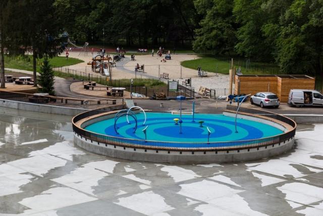 Wodne atrakcje w parku Jordana