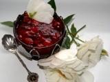 Kisiel czereśniowy na herbacie różanej