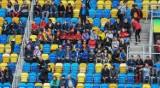 Kibice na trybunach stadionu w Gdyni podczas meczu Meksyk - Włochy. Znajdź się na zdjęciach