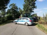 Wypadek ciągnika rolniczego i samochodu osobowego w Bukowie - policja apeluje o ostrożność