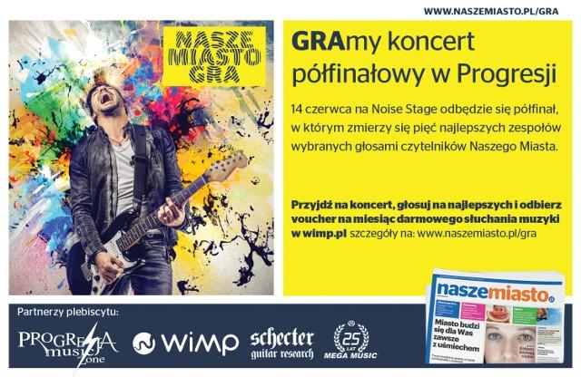 Nasze Miasto Gra: wejściówki na półfinałowy koncert w Progresji