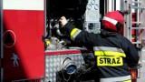 Pożar budynku magazynowego w Smołdzinie. Strażacy szybko opanowali ogień