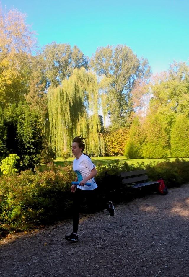 Biegi sztafetowe w łęczyckim parku