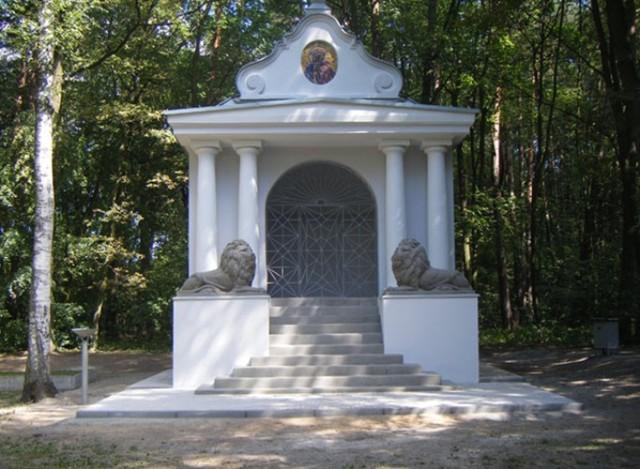 Kapliczka w Lasku Miejskim w Brodnicy. Tu zorganizowane zostaną uroczystości z okazji 100. rocznicy Bitwy pod Brodnicą