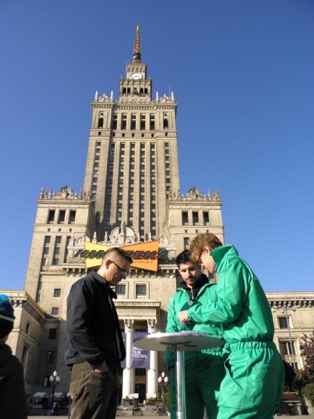 Scrabble pod Pałacem Kultury