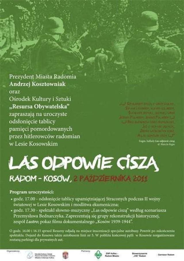 Podradomski Kosów Upamiętni Ofiary Wojny Spektakl Las