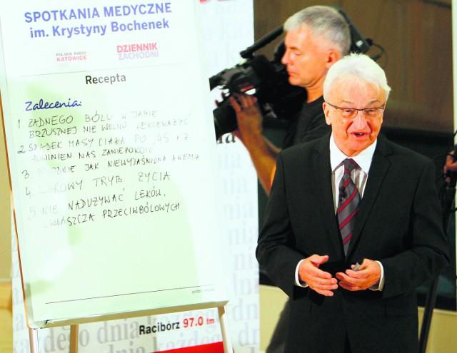 Profesor Andrzej Nowak i operator Jan Zub