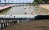 Normalnie hydrozagadka! Z jeziora koło Gorzowa od lat znika woda. Pomost za chwilę będzie stał na piachu, a nie w wodzie!