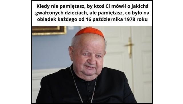 Z reportażu TVN24 i raportu Watykanu wynika, że kardynał Stanisław Dziwisz miał być zamieszany w tuszowanie przypadków pedofilii wśród duchownych i niejasne powiązania finansowe z zakonem Legionistów Chrystusa. Mimo porażającej skali zjawiska sam bohater zapewnia, że o niczym nie wiedział lub niczego takiego nie pamięta, co wywołało falę internetowych memów.   Zobacz memy ----->