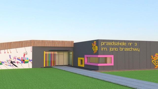 Urząd Miasta i Gminy w Międzychodzie już wkrótce ogłosi przetarg na budowę nowego przedszkola przy ul. Gwardii Ludowej (wizualizacja i projekt Studio Architektury NANA Ilona Najdek-Bajer)