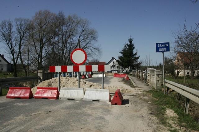 Zamknięty most w Pielgrzymce, trzeba jechać objazdami