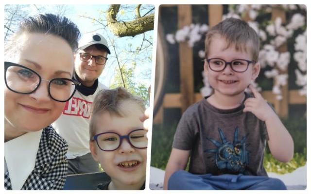 Chory na glejaka nerwu wzrokowego chłopiec zbiera na operację w USA