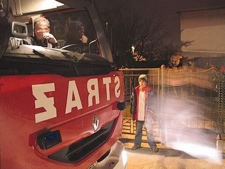 Strażacy przy ul. Sadowej na szczęście nie mieli wiele do roboty.