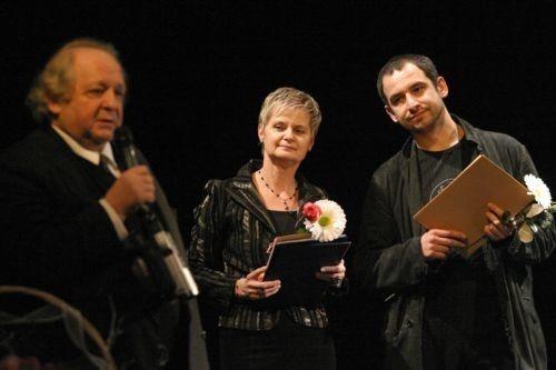 Adam Wolańczyk z Danutą Marosz podczas jubileuszu wałbrzyskiej placówki