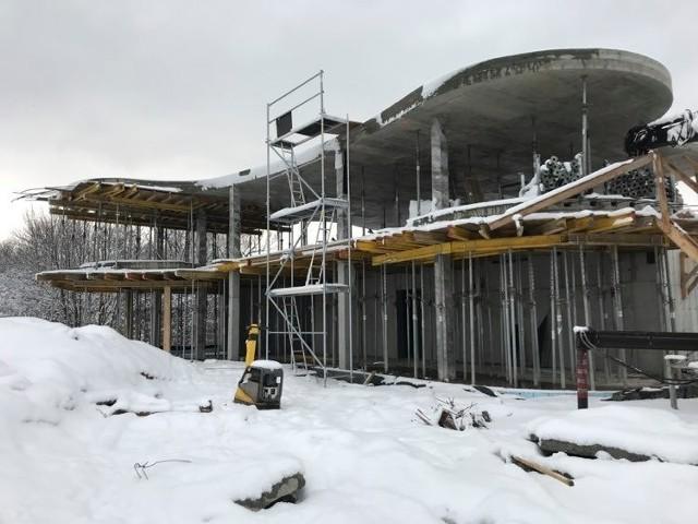 Prace na Zakrzówku w ramach II etapu. Wkrótce ruszy budowa budynku centrum sportów wodnych nad dużym akwenem