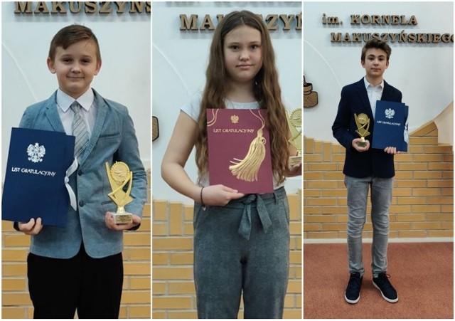 Najzdolniejsi uczniowie Szkoły Podstawowej w Rzeczycy odebrali Listy Gratulacyjne i Talenty Roku 2020.