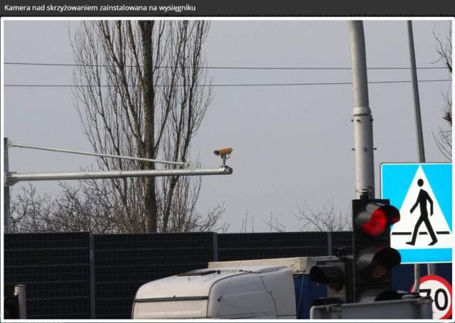 Na skrzyżowaniu al. Sikorskiego i Concordii pojawi się system monitoringu wjazdów pojazdów na czerwonym świetle