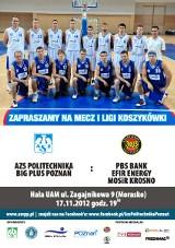 I liga - Koszykarze AZS Politechniki Big Plus Poznań czekają na drugie zwycięstwo