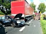 Malechowo. Zderzenie kilku samochodów na DK6. M.in. 2 ciężarówki. Karambol ZDJĘCIA