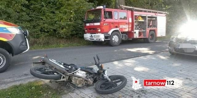 Do wypadku z udziałem motocyklisty doszło w niedzielę - 5 września w centrum Jonin