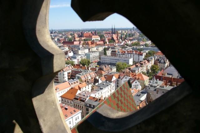 Widok z wieży kościoła garnizonowego w pobliżu Rynku